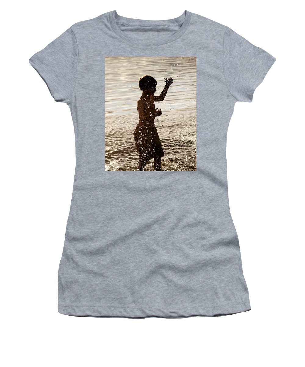 Sunlight Women's T-Shirt featuring the photograph Splashes Of Light by Steve Pfaffle