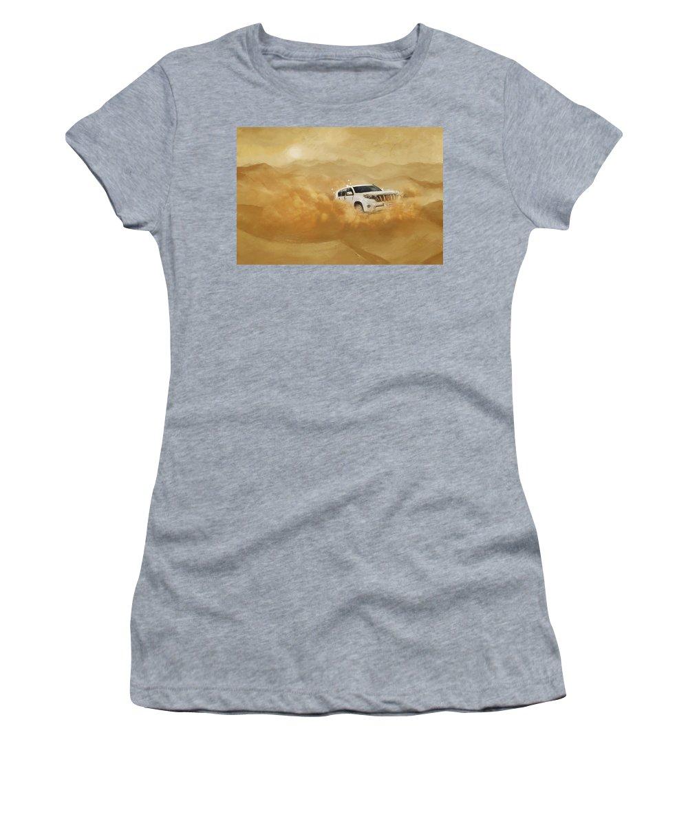 Dubai Women's T-Shirt featuring the painting Dubai Safari by Corporate Art Task Force