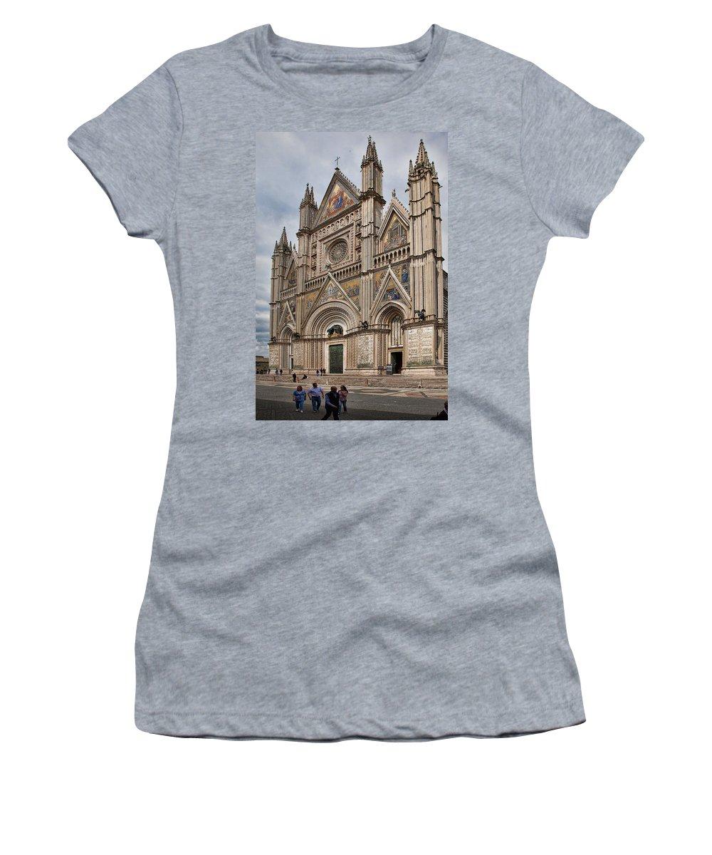 Duomo Women's T-Shirt featuring the photograph Duomo Orvieto Italy by Hugh Smith