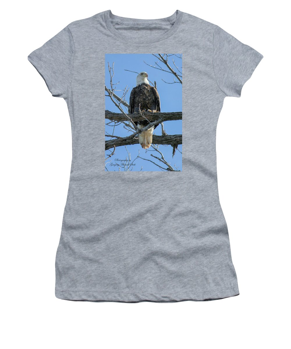 Eagle. Birds. Wildlife Women's T-Shirt (Athletic Fit) featuring the photograph Eagle7 by Safe Haven Photography Northwest