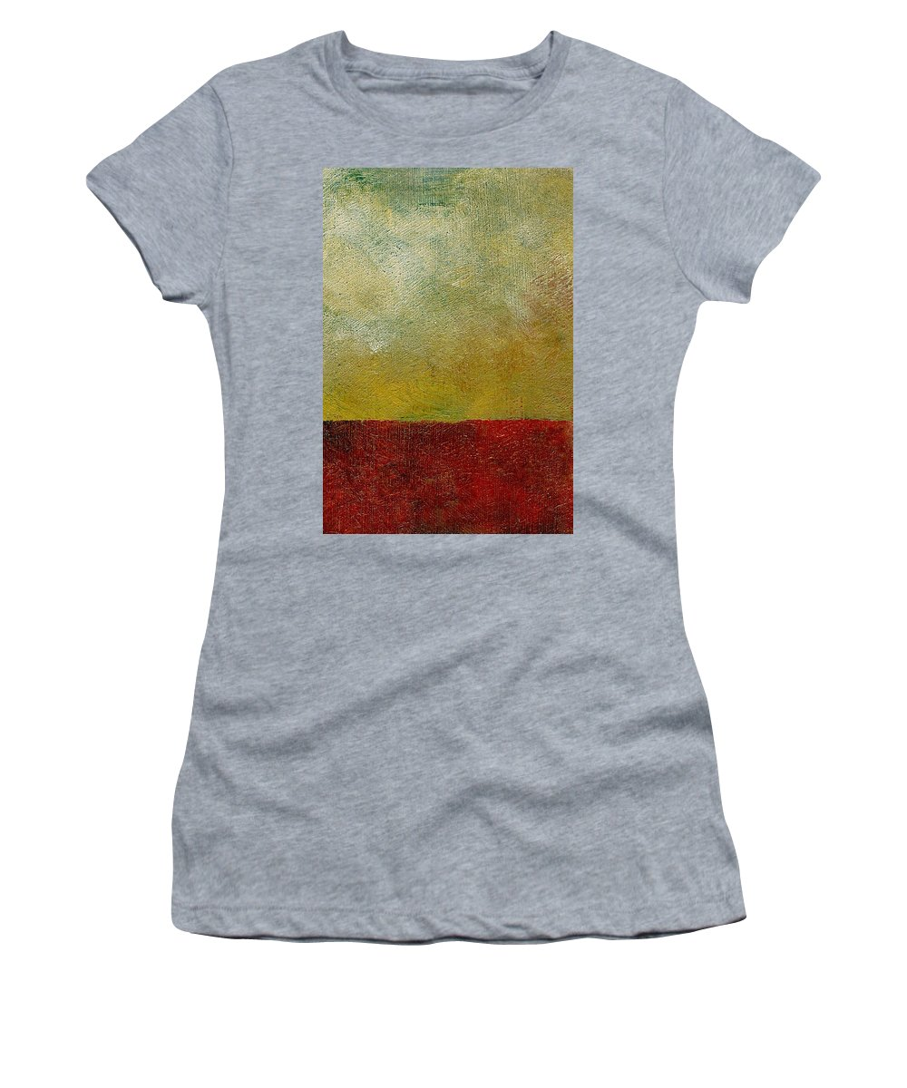 Abstract Landscape Women's T-Shirt (Athletic Fit) featuring the painting Earth Study One by Michelle Calkins