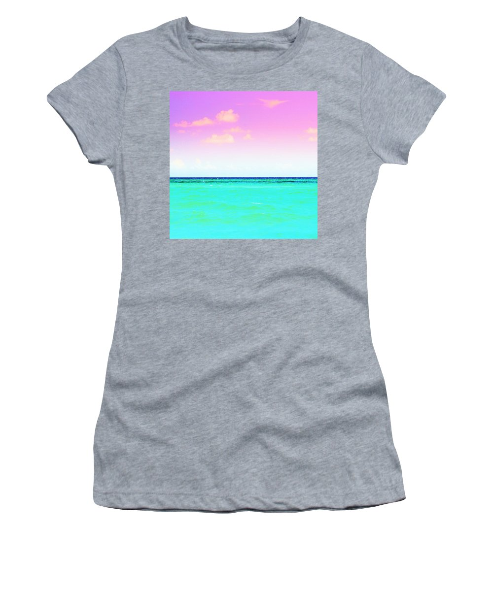 Water Women's T-Shirt featuring the photograph Easter Sunset by May Photography