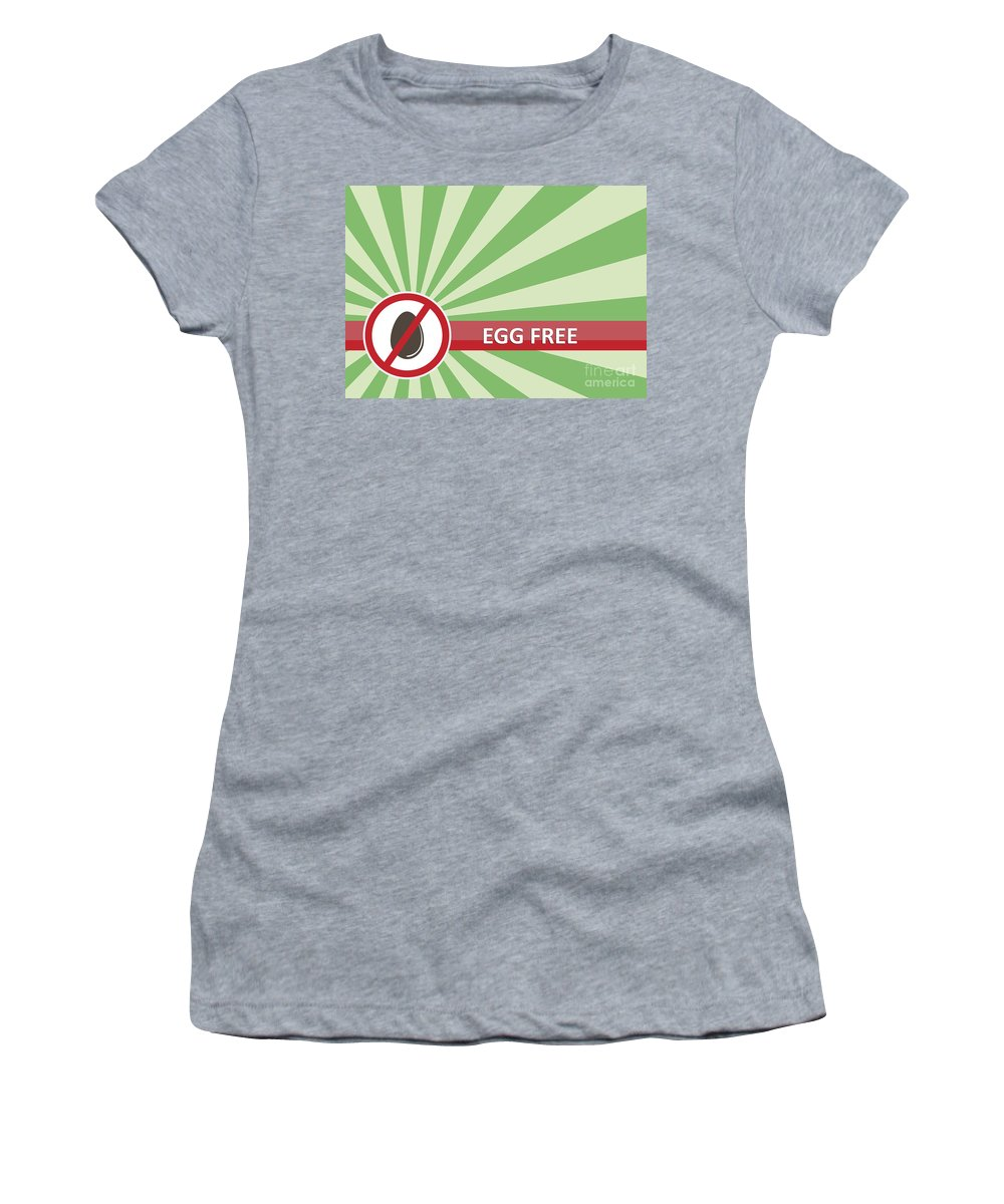 Product Women's T-Shirt (Athletic Fit) featuring the photograph Egg Free Banner by Tim Hester