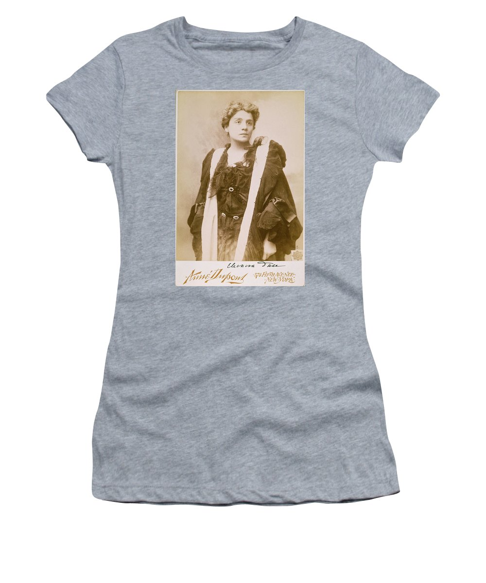 1896 Women's T-Shirt (Athletic Fit) featuring the photograph Eleonora Duse (1859-1924) by Granger