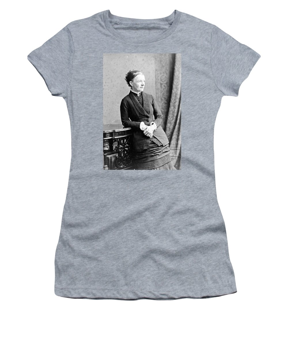 19th Century Women's T-Shirt (Athletic Fit) featuring the photograph Emma Wedgwood Darwin (1808-1896) by Granger