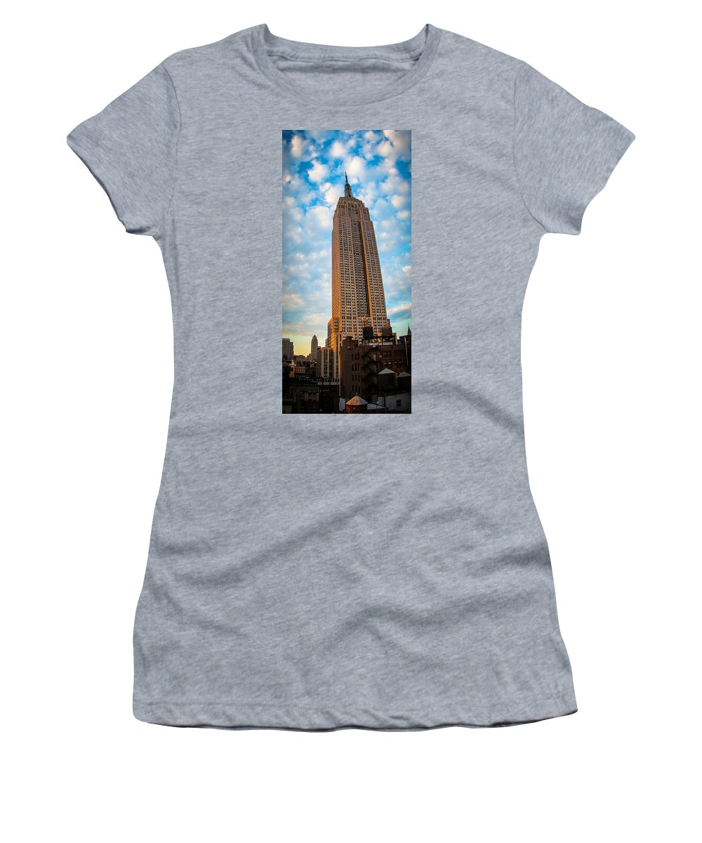 Empire State Building Women's T-Shirt featuring the photograph Empire State Building by Richard Cheski
