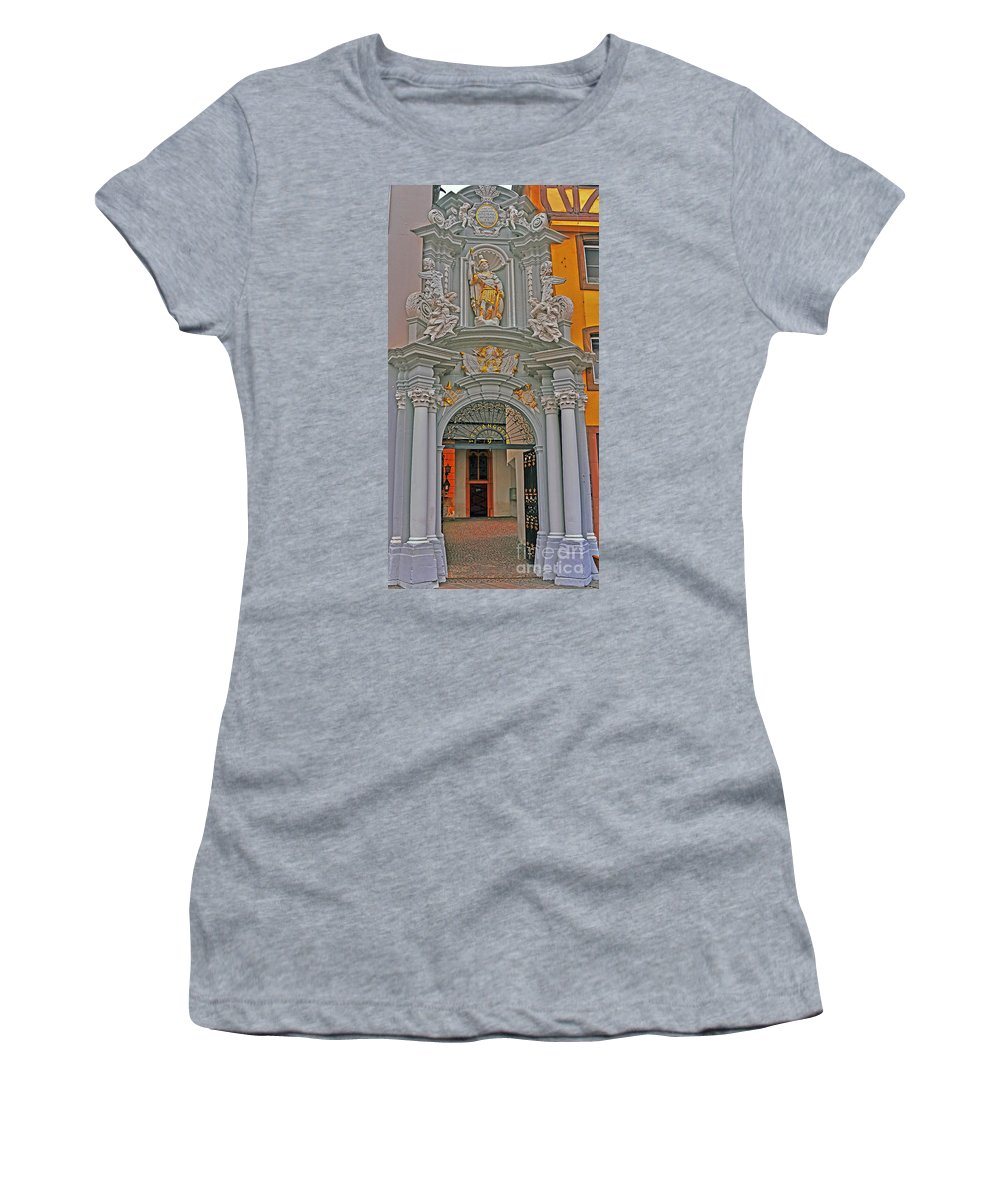 Travel Women's T-Shirt featuring the photograph Entrance To St Gangolf by Elvis Vaughn