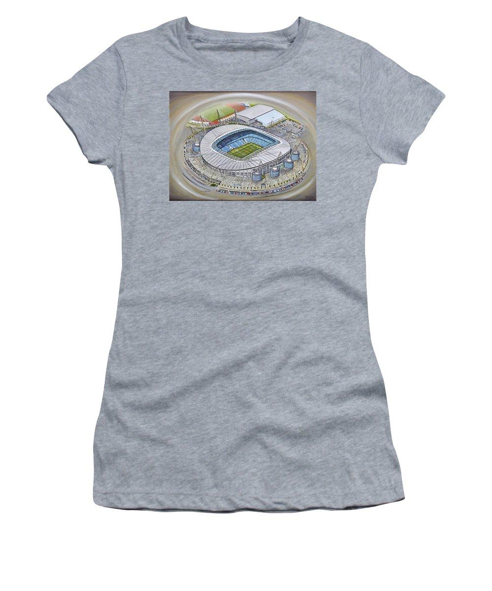 da2f7b928 Etihad Stadium - Manchester City Women s T-Shirt for Sale by D J Rogers