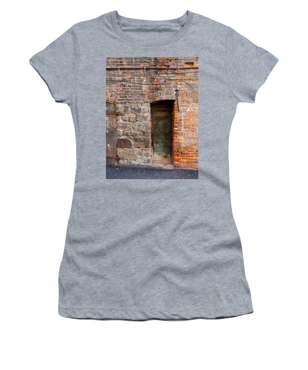 Door Women's T-Shirt featuring the photograph Exit by Fran Riley