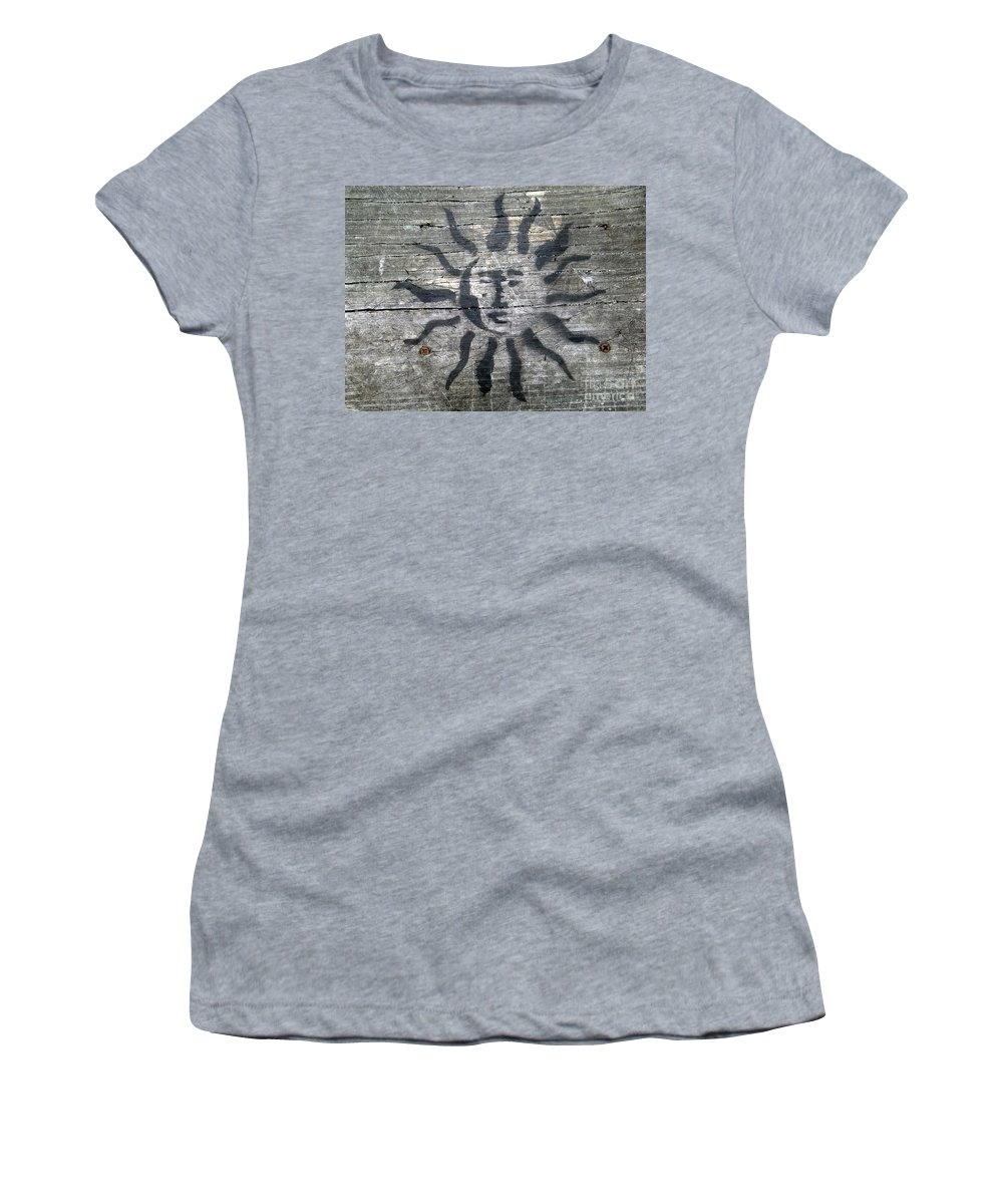 Sun Women's T-Shirt featuring the photograph Face Of The Sun by Ed Weidman