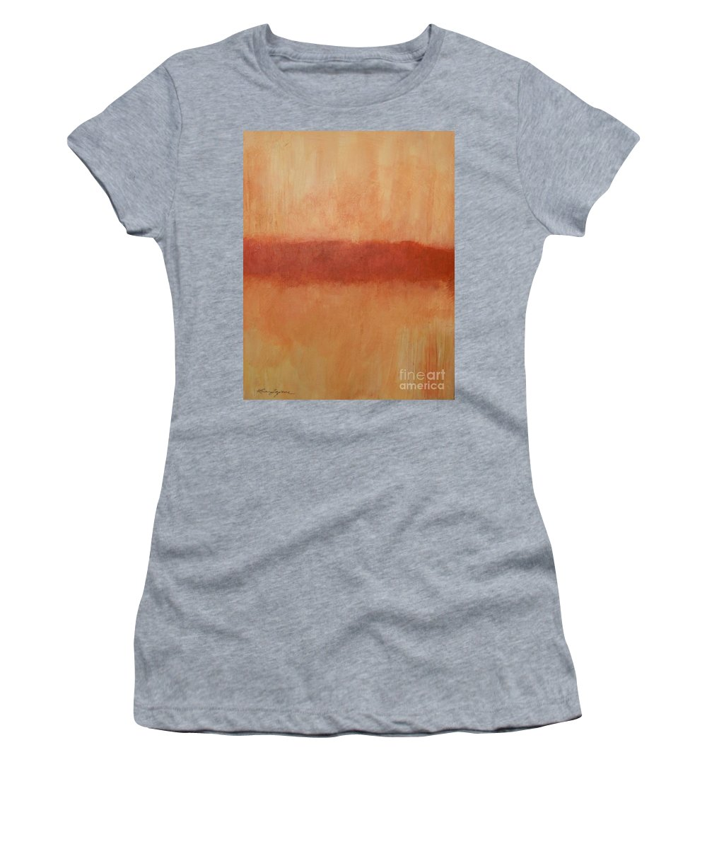 Fall Women's T-Shirt featuring the painting Fall by Kate Marion Lapierre