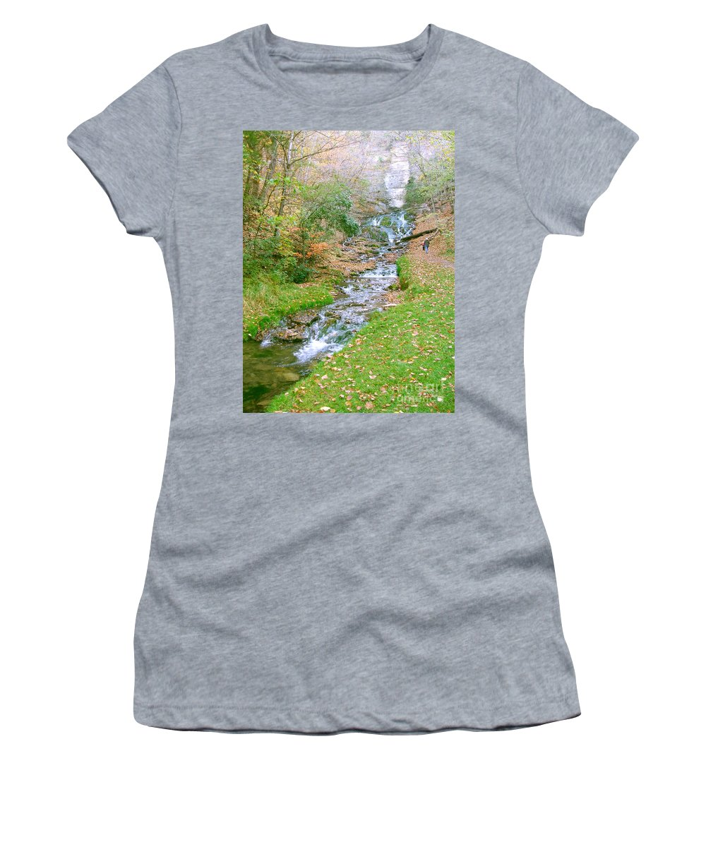 Springs Women's T-Shirt (Athletic Fit) featuring the photograph Fall Springs by Minding My Visions by Adri and Ray