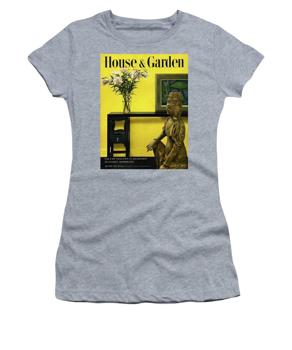 Photograph Women's T-Shirt featuring the photograph Far-east Influenced Decoration by Haanel Cassidy