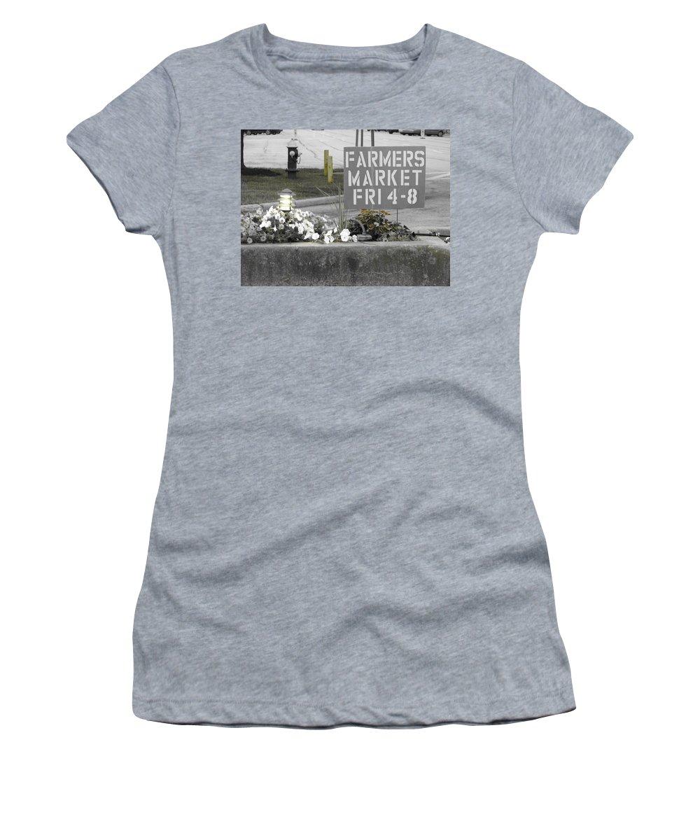 Farmers Market Women's T-Shirt featuring the photograph Farmers Market by Michael Krek