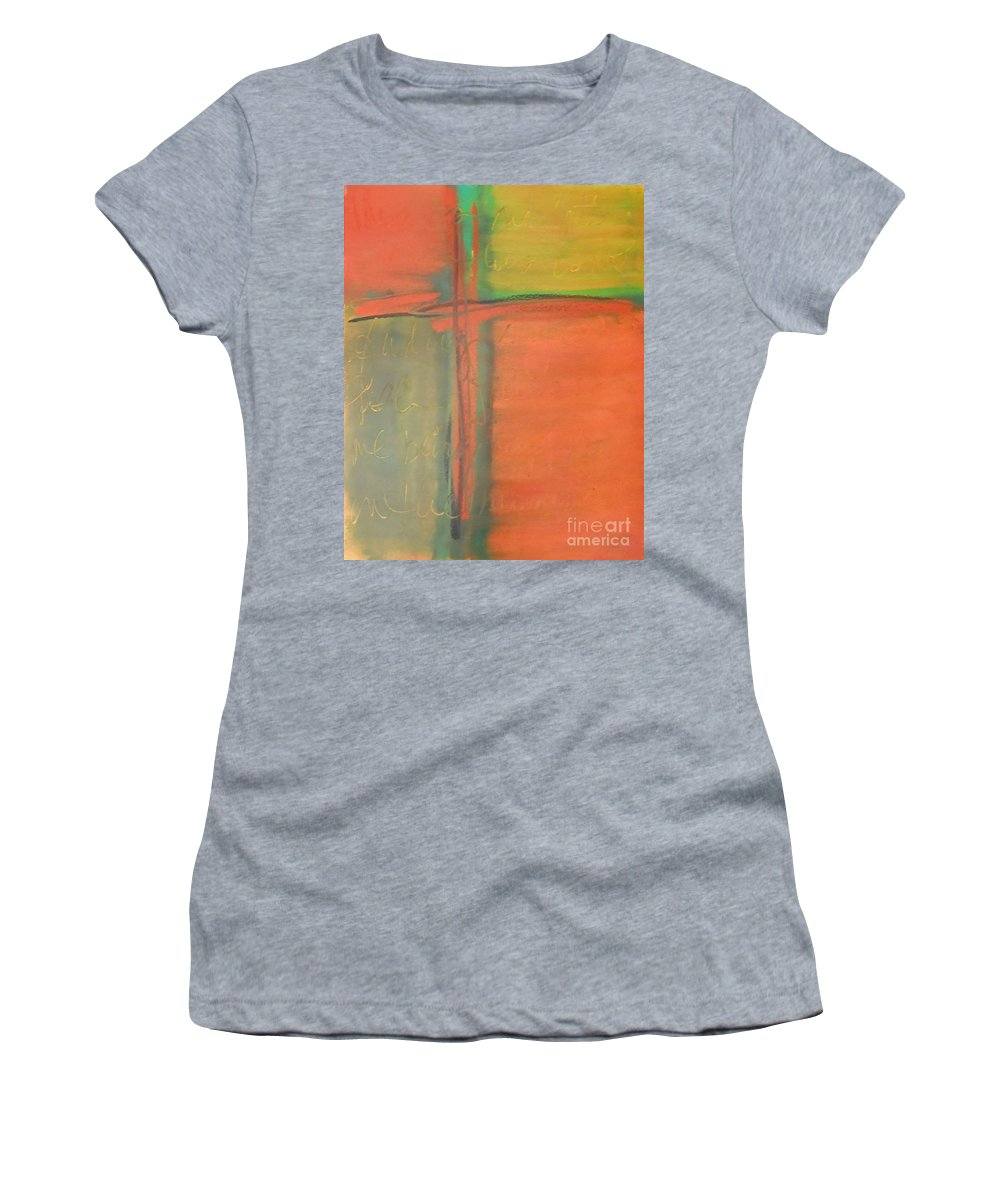 Path Women's T-Shirt featuring the painting Finding My Path by Kitty Mecham