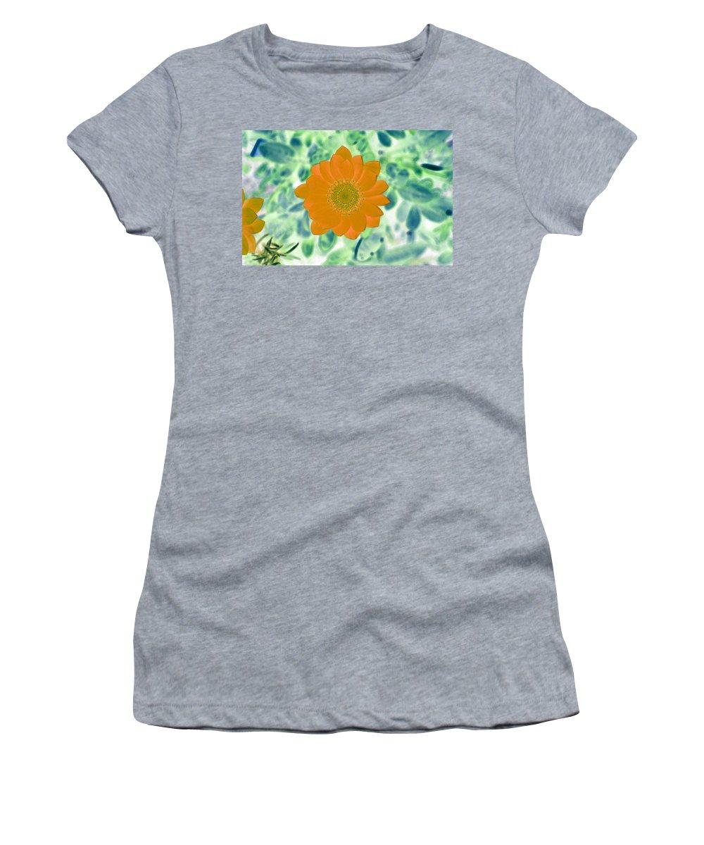 Flower Women's T-Shirt featuring the photograph Flower Power 1433 by Pamela Critchlow