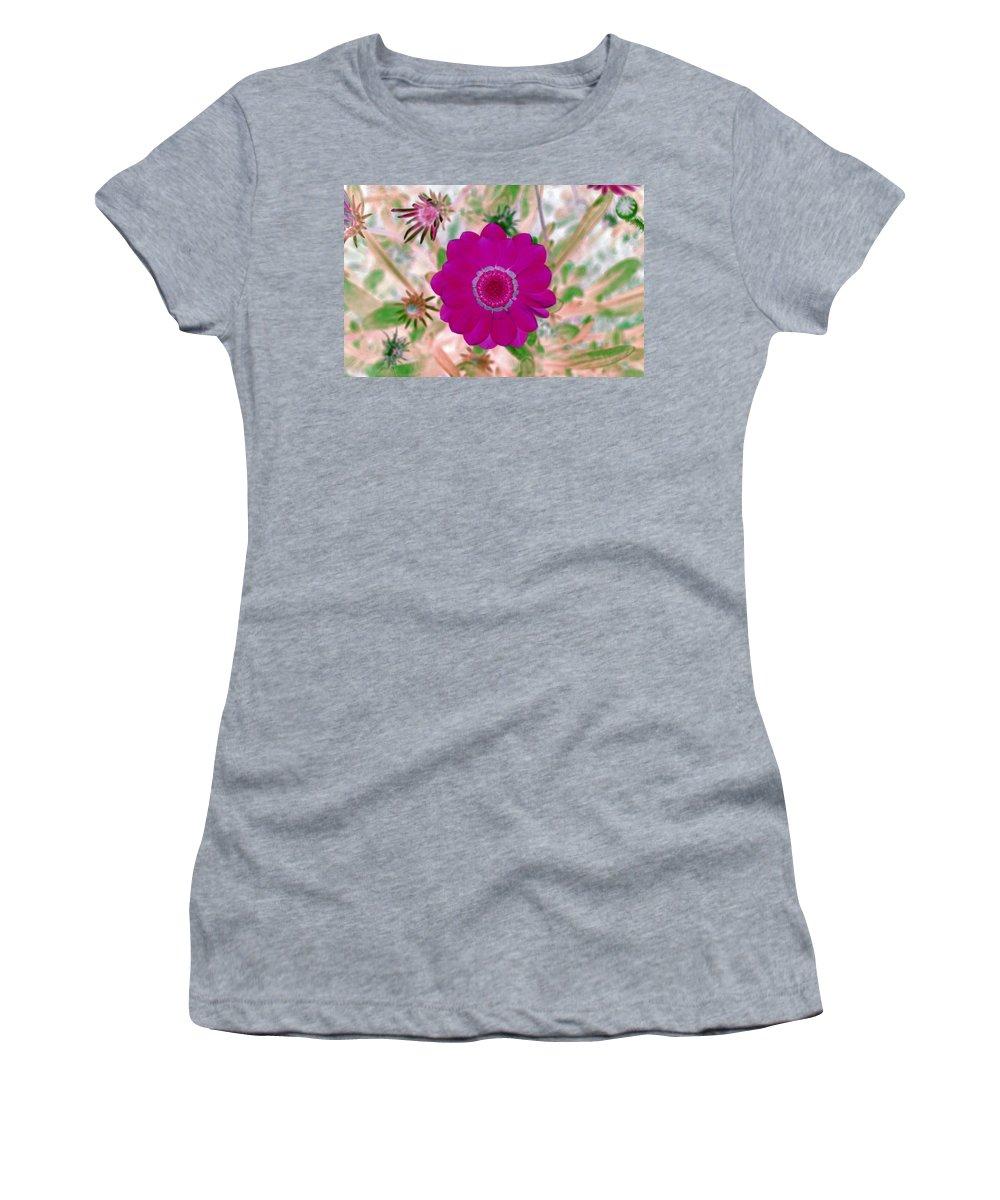 Flower Women's T-Shirt featuring the photograph Flower Power 1439 by Pamela Critchlow