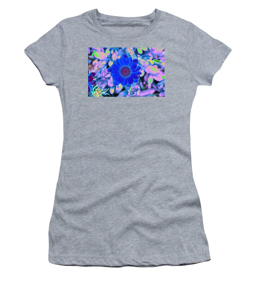 Flower Women's T-Shirt featuring the photograph Flower Power 1452 by Pamela Critchlow