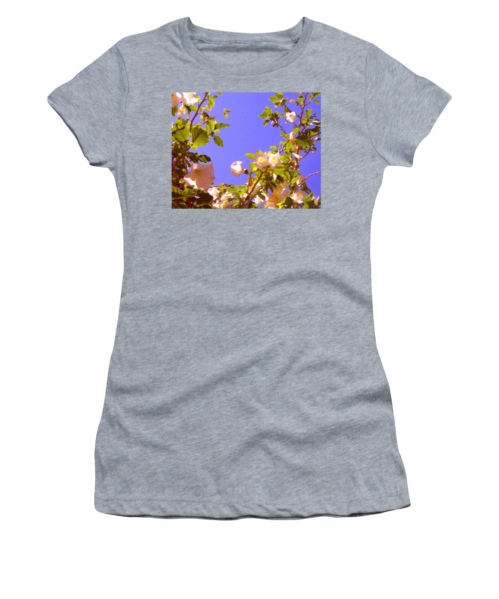 Landscapes Women's T-Shirt featuring the painting Flowering Tree 2 by Amy Vangsgard