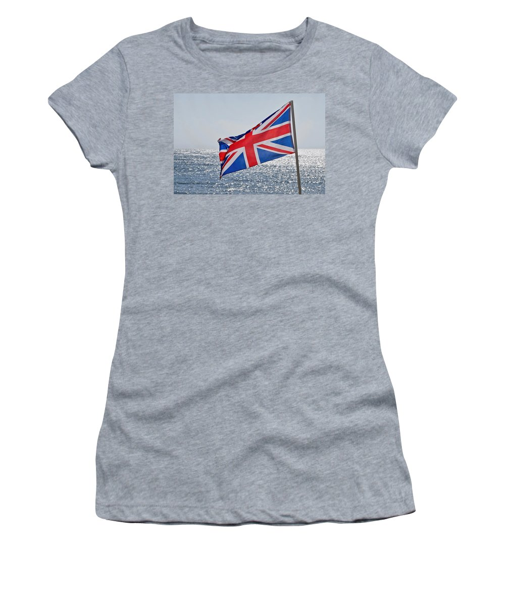 Flag Women's T-Shirt featuring the photograph Flying The British Flag by Susie Peek