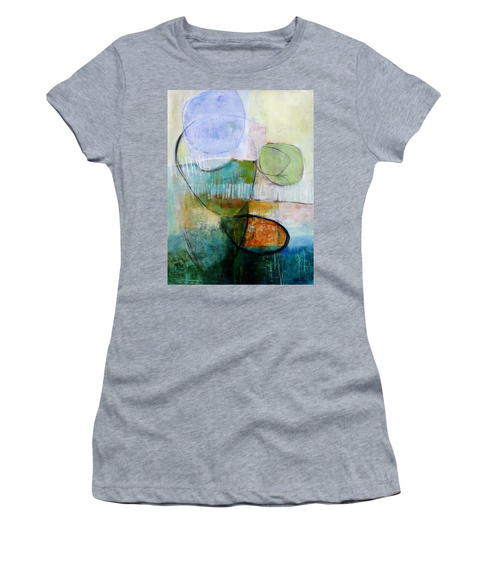 Keywords: Abstract Women's T-Shirt featuring the painting Fogo Island 1 by Jane Davies