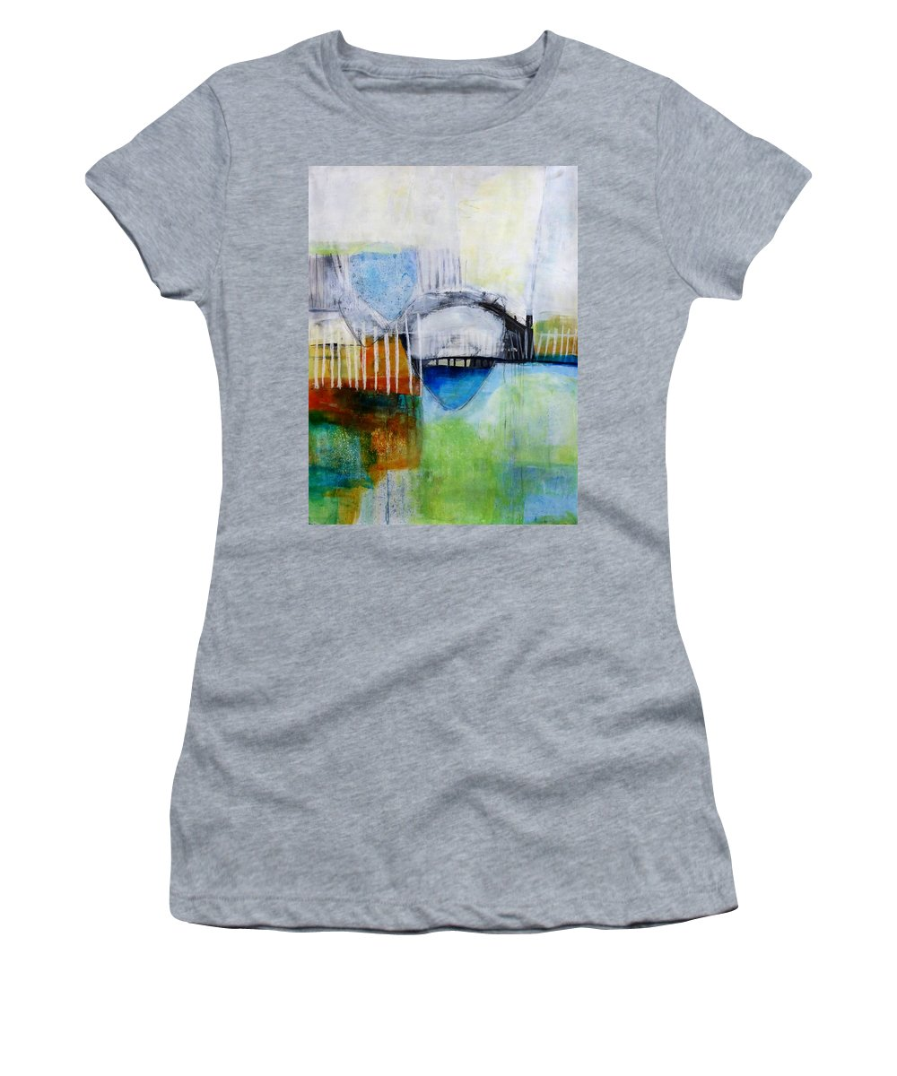 Keywords: Abstract Women's T-Shirt featuring the painting Fogo Island 2 by Jane Davies
