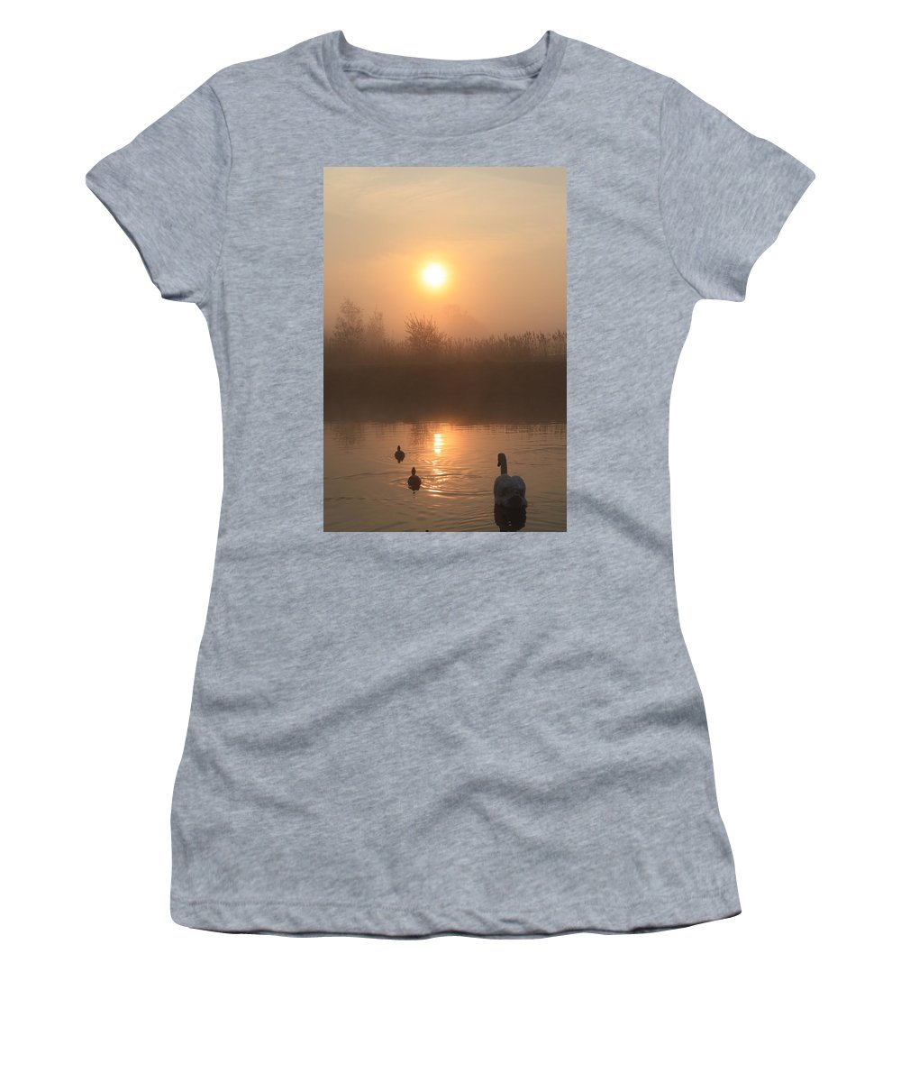 Nature Women's T-Shirt (Athletic Fit) featuring the photograph Follow Us by Linsey Williams