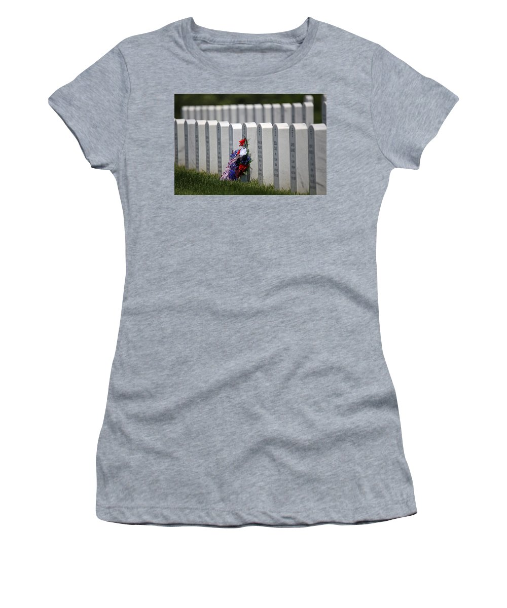Cemetery Women's T-Shirt featuring the photograph Fort Leavenworth National Cemetery by Lynn Sprowl