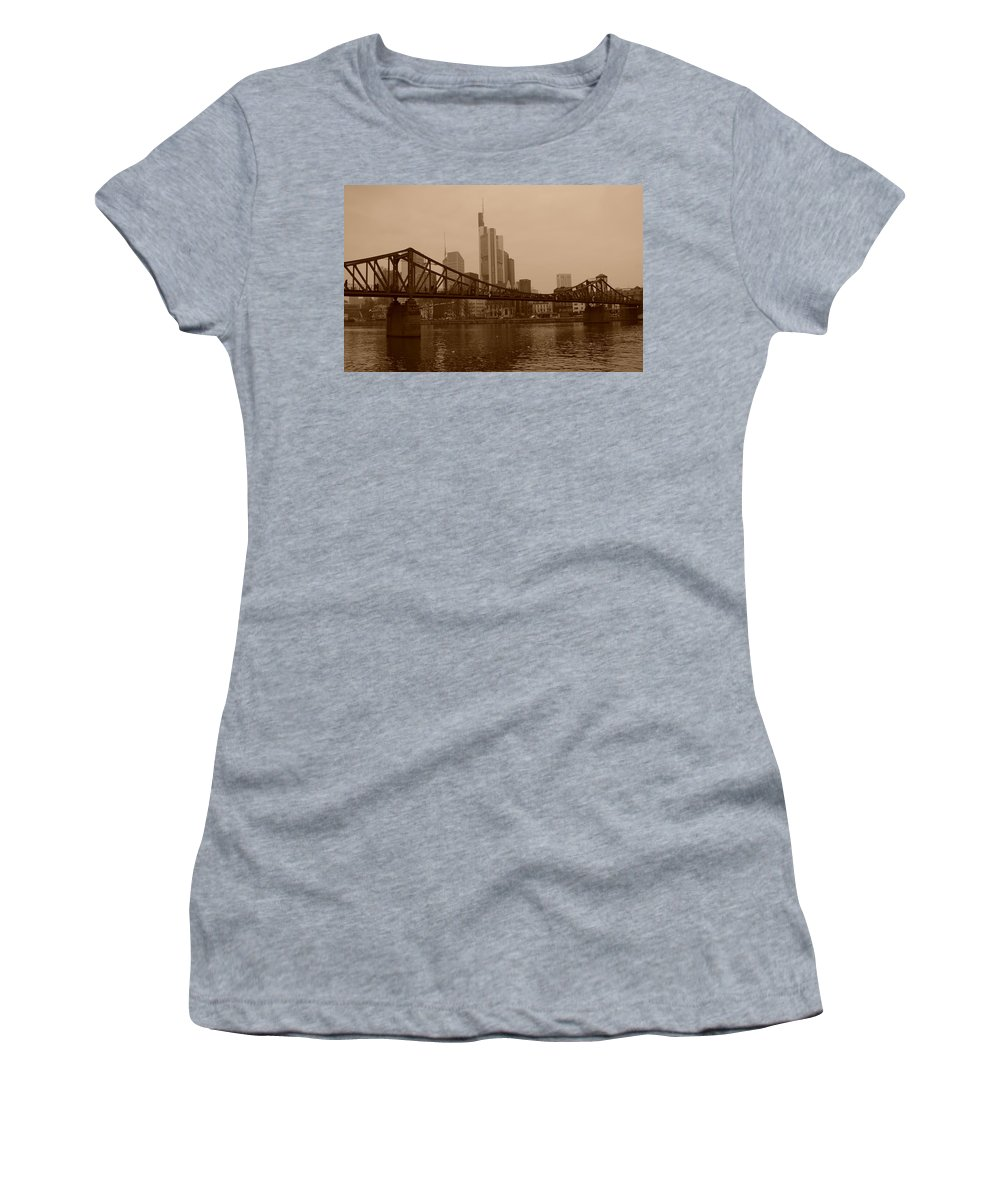 Frankfurt Women's T-Shirt featuring the photograph Frankfurt by Miguel Winterpacht