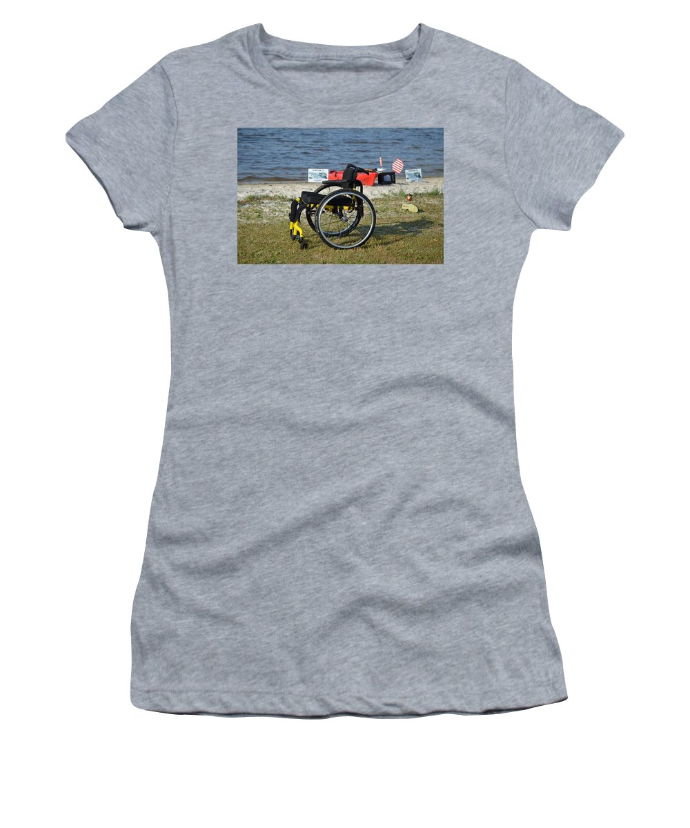 Wounded Warrior Project Women's T-Shirt (Athletic Fit) featuring the photograph Freedom Isn't Free by Jeff at JSJ Photography