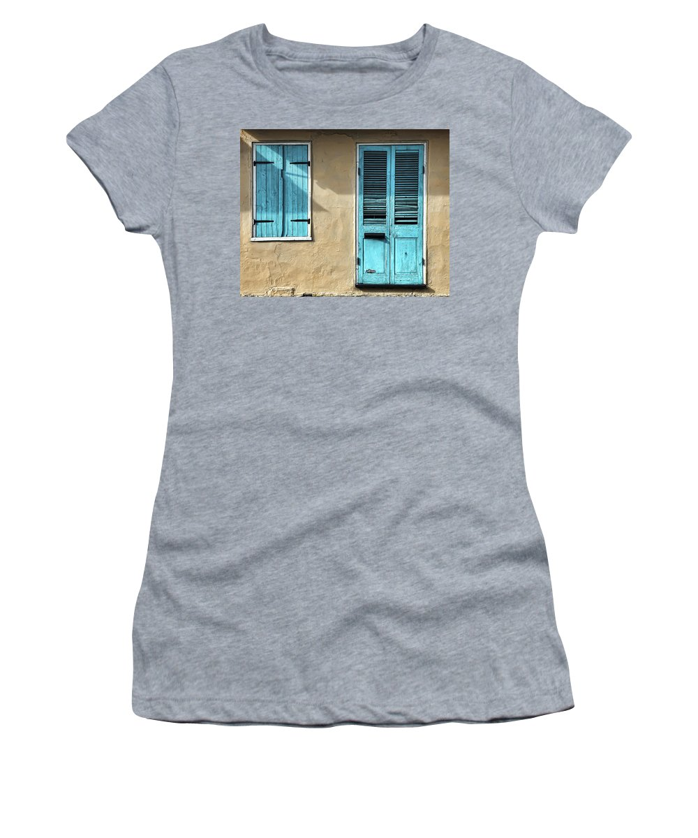 French Quarter Women's T-Shirt featuring the photograph French Quarter Blues by Dominic Piperata