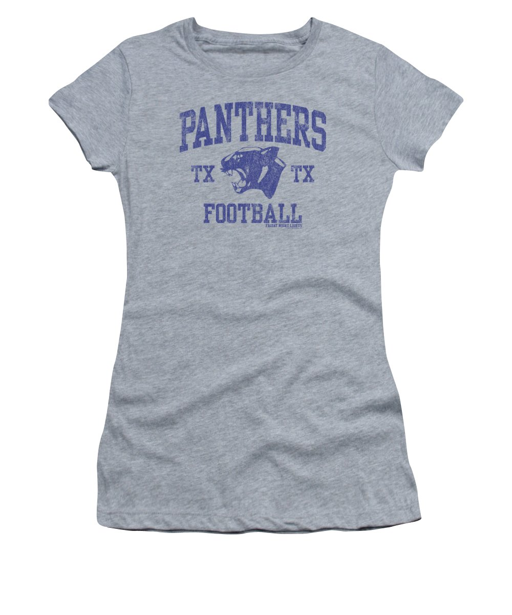 Friday Night Lights Women's T-Shirt featuring the digital art Friday Night Lights - Panther Arch by Brand A