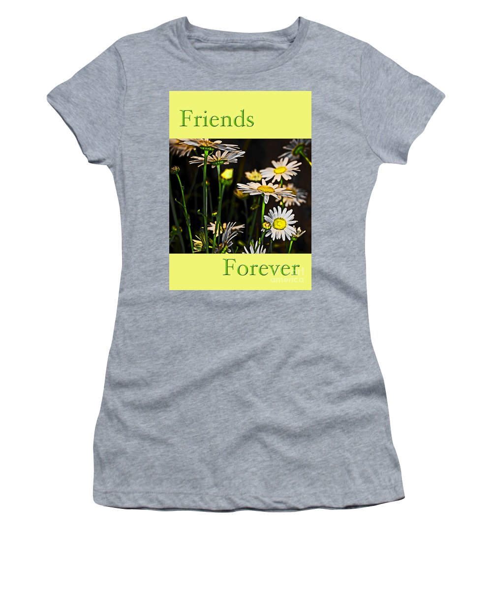 Daisy Women's T-Shirt featuring the photograph Friends Forever by Tom Gari Gallery-Three-Photography