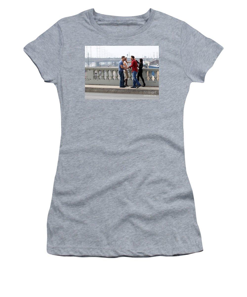 Friends Women's T-Shirt featuring the photograph Friends Greeting by Henrik Lehnerer