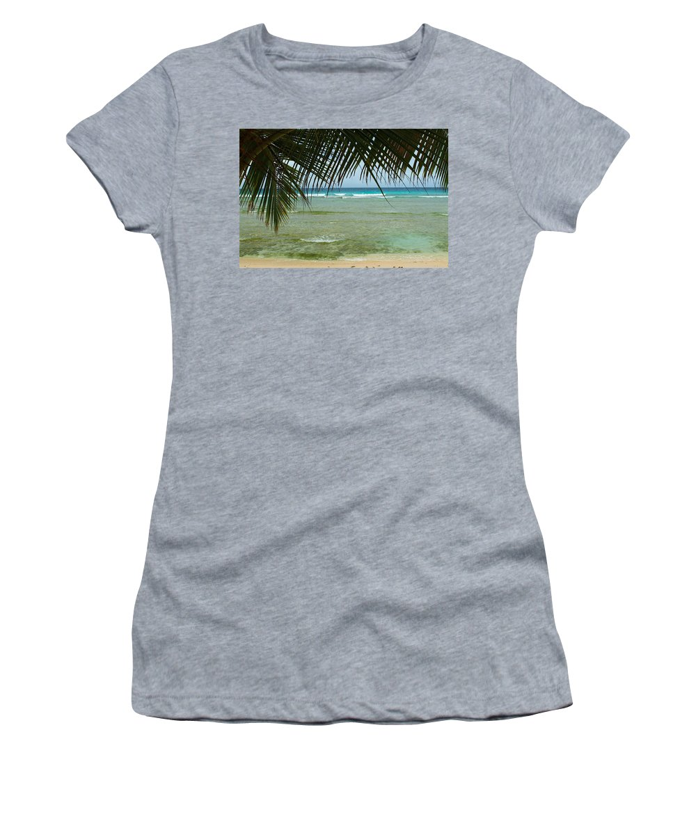 Barbados Women's T-Shirt featuring the photograph Fronds by Catie Canetti