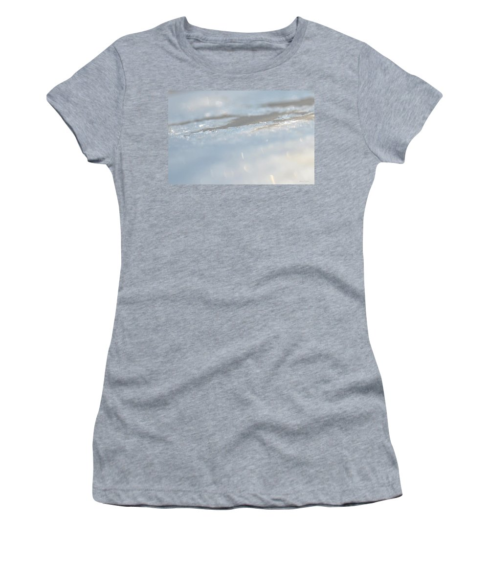 Frosted Silver Abstract Women's T-Shirt featuring the photograph Frosted Silver Abstract by Maria Urso