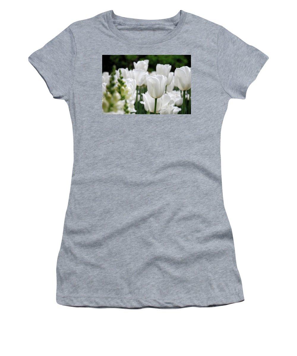 Tulip Women's T-Shirt featuring the photograph Garden Beauty by Jennifer Ancker