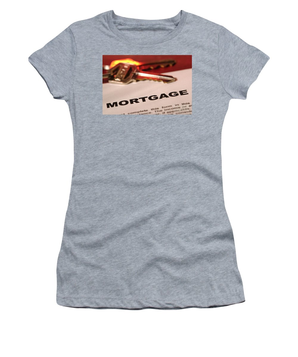 Mortgage Women's T-Shirt featuring the photograph Getting A New Home by Olivier Le Queinec
