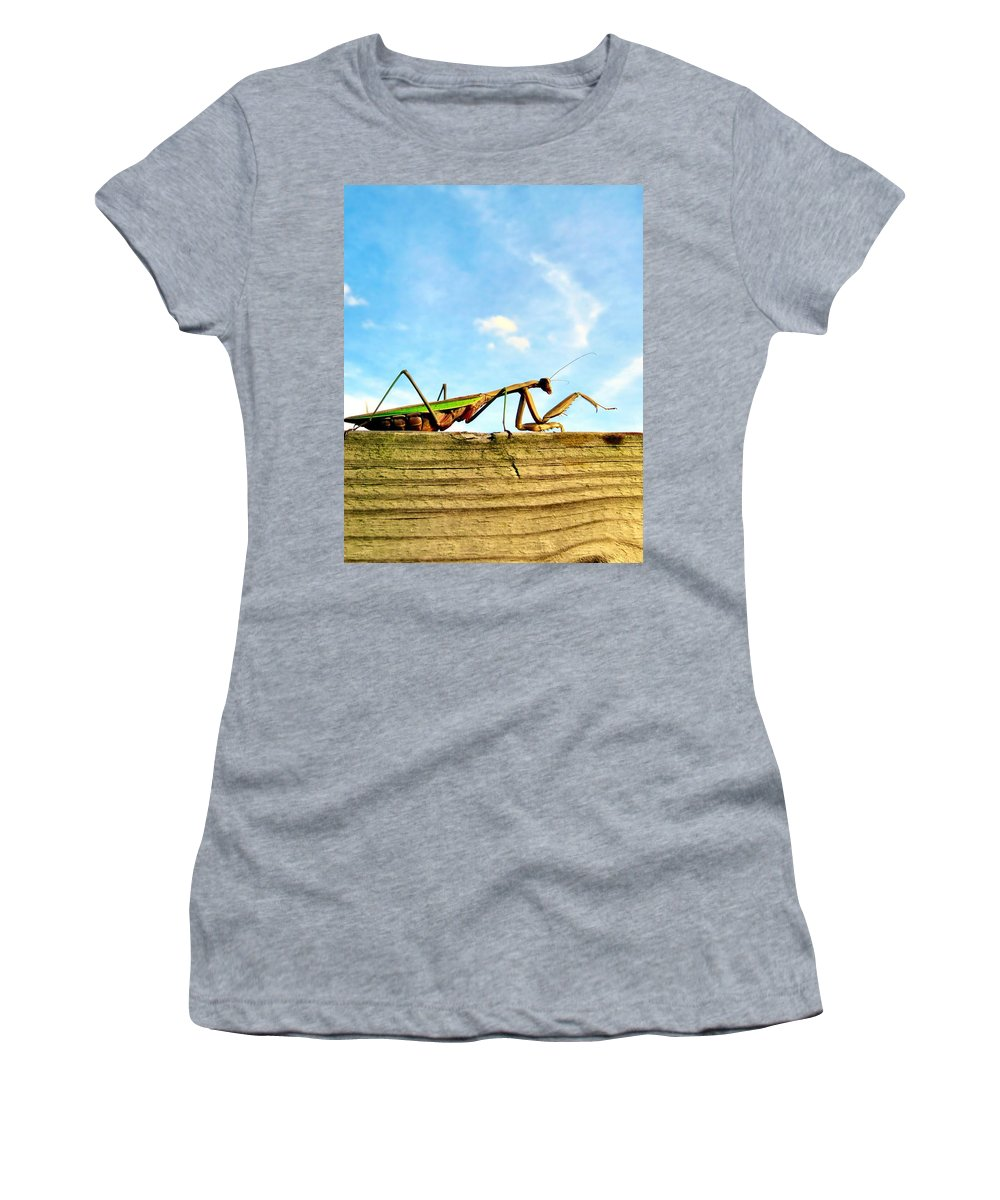 Praying Women's T-Shirt featuring the photograph Gigantor by Art Dingo
