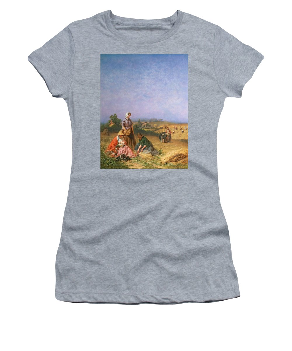 Children Women's T-Shirt featuring the painting Gleaning by George Elgar Hicks