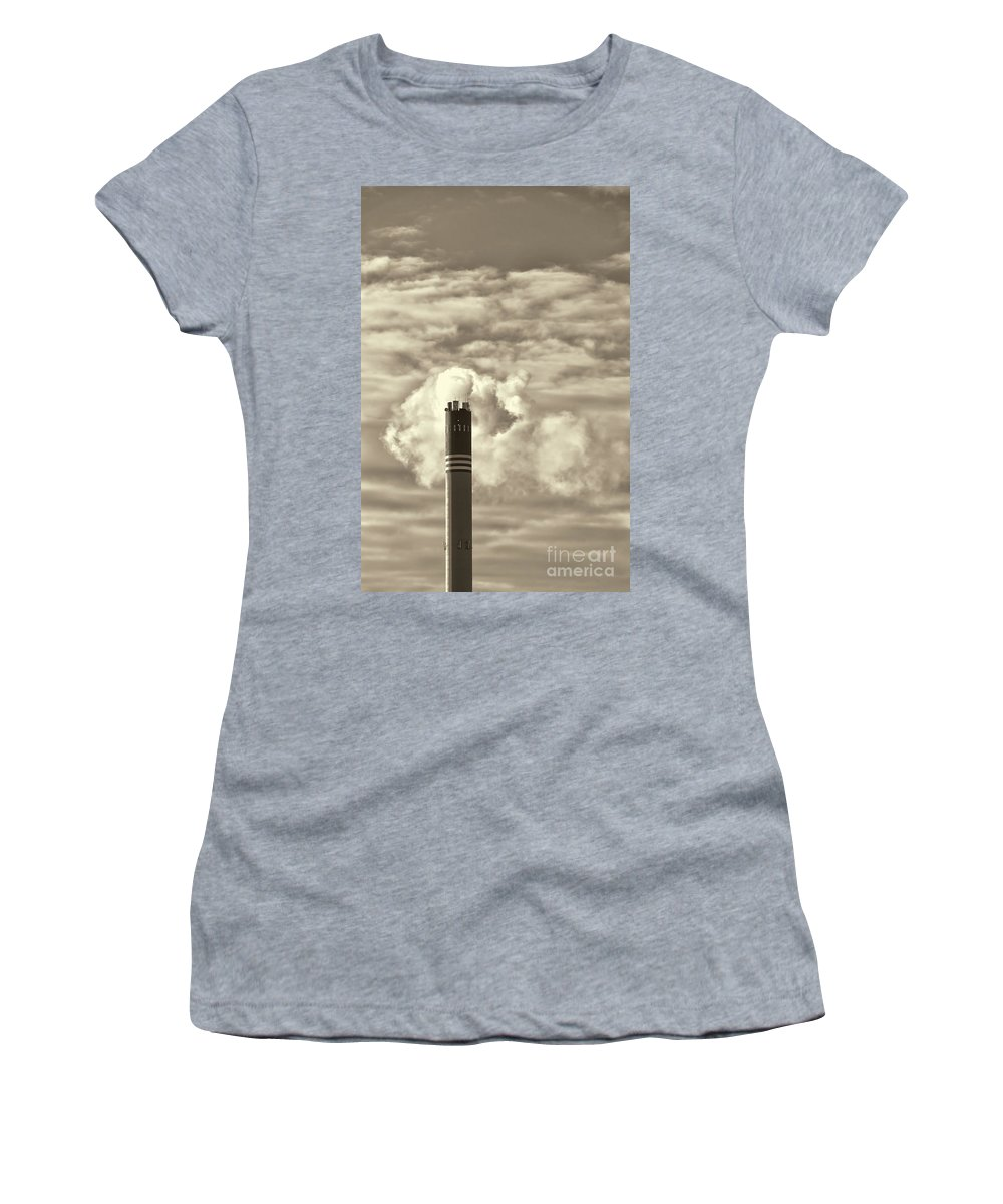 Industry Women's T-Shirt (Athletic Fit) featuring the photograph Global Warming by Antony McAulay