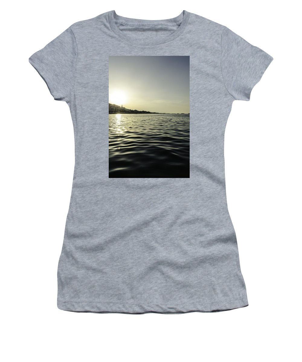 Sunset Women's T-Shirt featuring the photograph Golden Sunset In Italy by Andrea Mazzocchetti