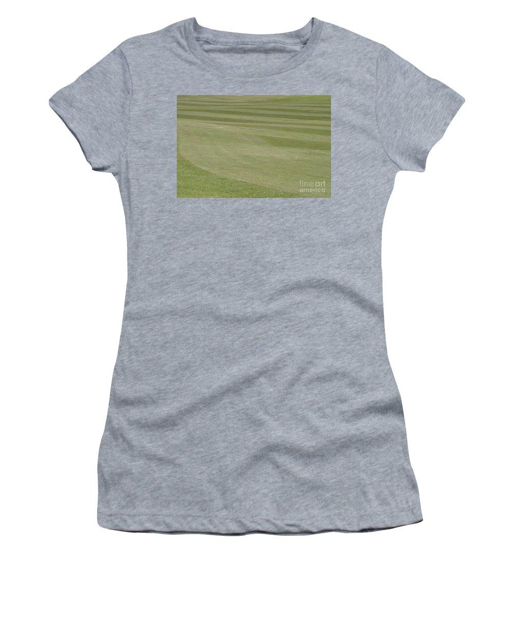 Golf Women's T-Shirt featuring the photograph Golf Grass by Henrik Lehnerer