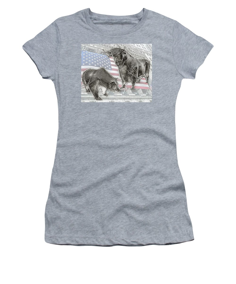 Bear Women's T-Shirt (Athletic Fit) featuring the photograph Good Times . . . Bad Times by Joachim G Pinkawa