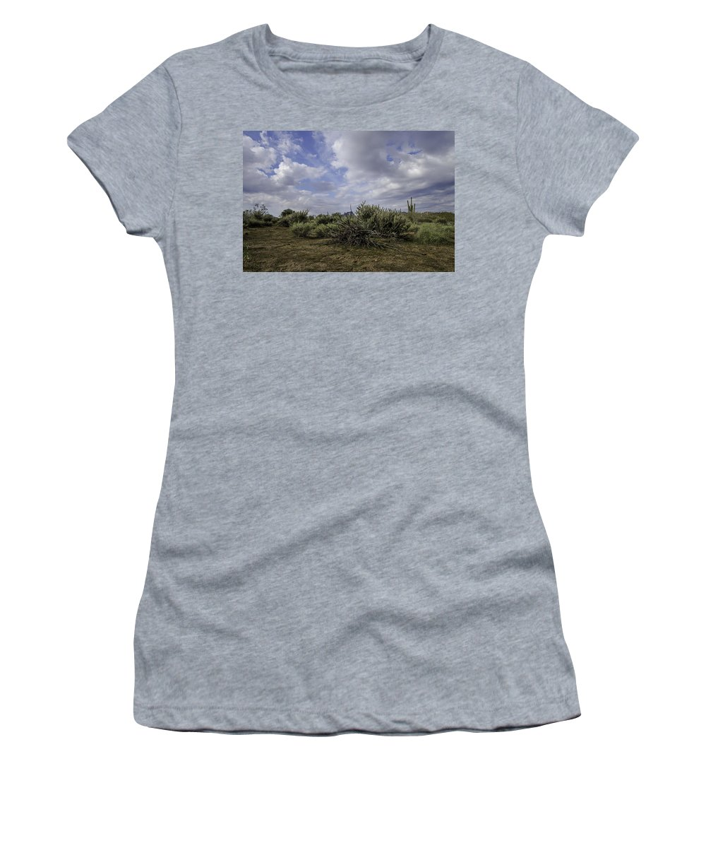 Clouds Women's T-Shirt featuring the photograph Gorgeous Cloud Cover by Lorraine Harrington