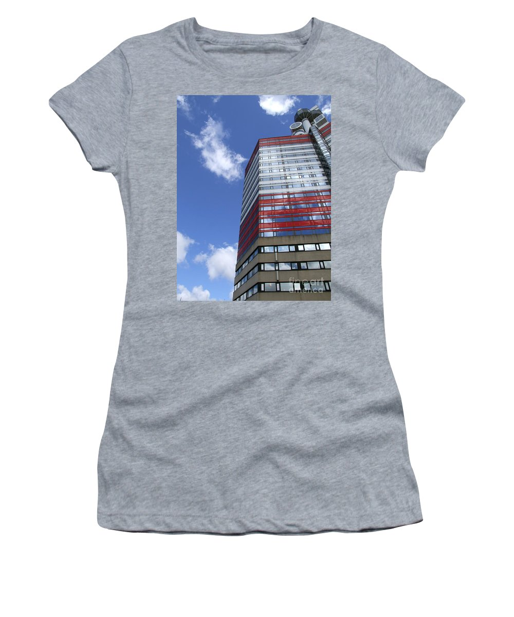 Apartment Women's T-Shirt (Athletic Fit) featuring the photograph Gothenburg Utkiken Tower 11 by Antony McAulay
