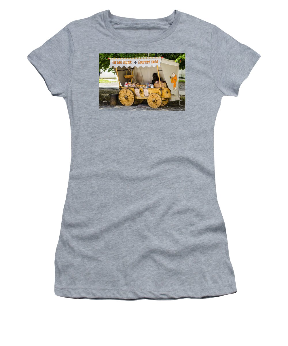 Estonia Women's T-Shirt featuring the photograph Gourmet Monk - Tallin Estonia by Jon Berghoff