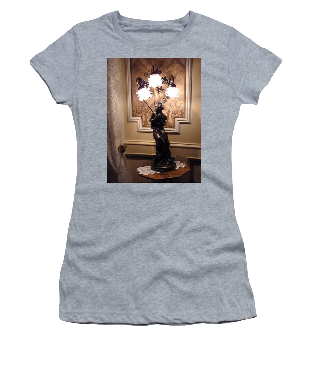 Women's T-Shirt (Athletic Fit) featuring the photograph Graceful Lamp by Katerina Naumenko