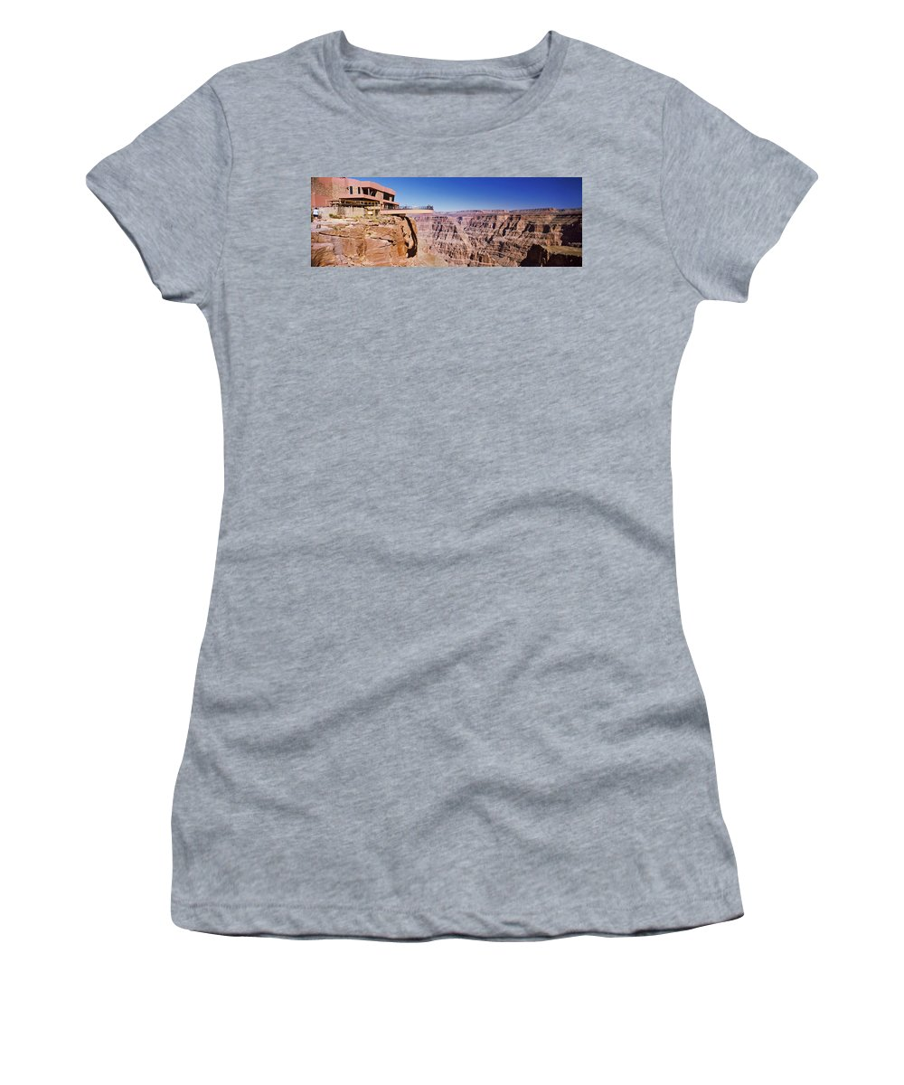 Photography Women's T-Shirt featuring the photograph Grand Canyon Skywalk, Eagle Point, West by Panoramic Images