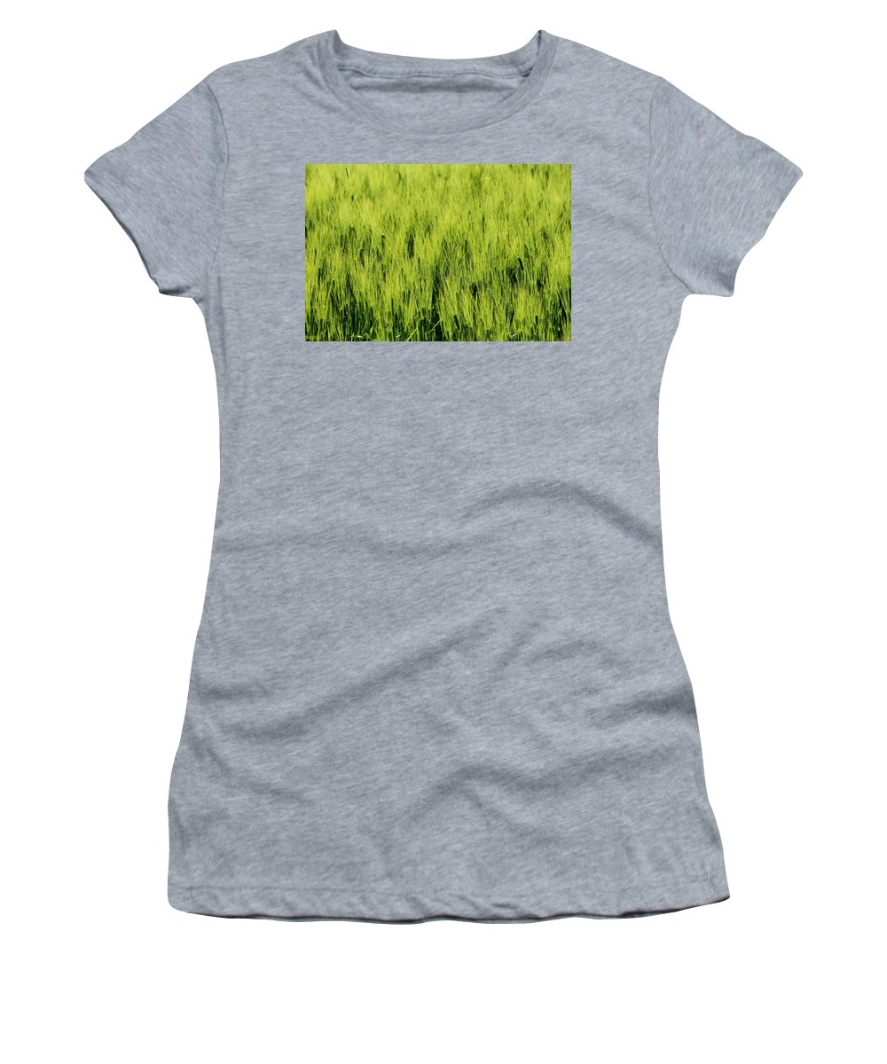 Flora Women's T-Shirt featuring the photograph Green Nature by Heike Hultsch